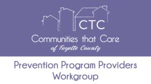 Prevention Program Provider Workgroup @ Online - Zoom Meeting
